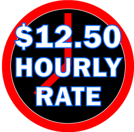 ten dollars and fifty cents hourly rate